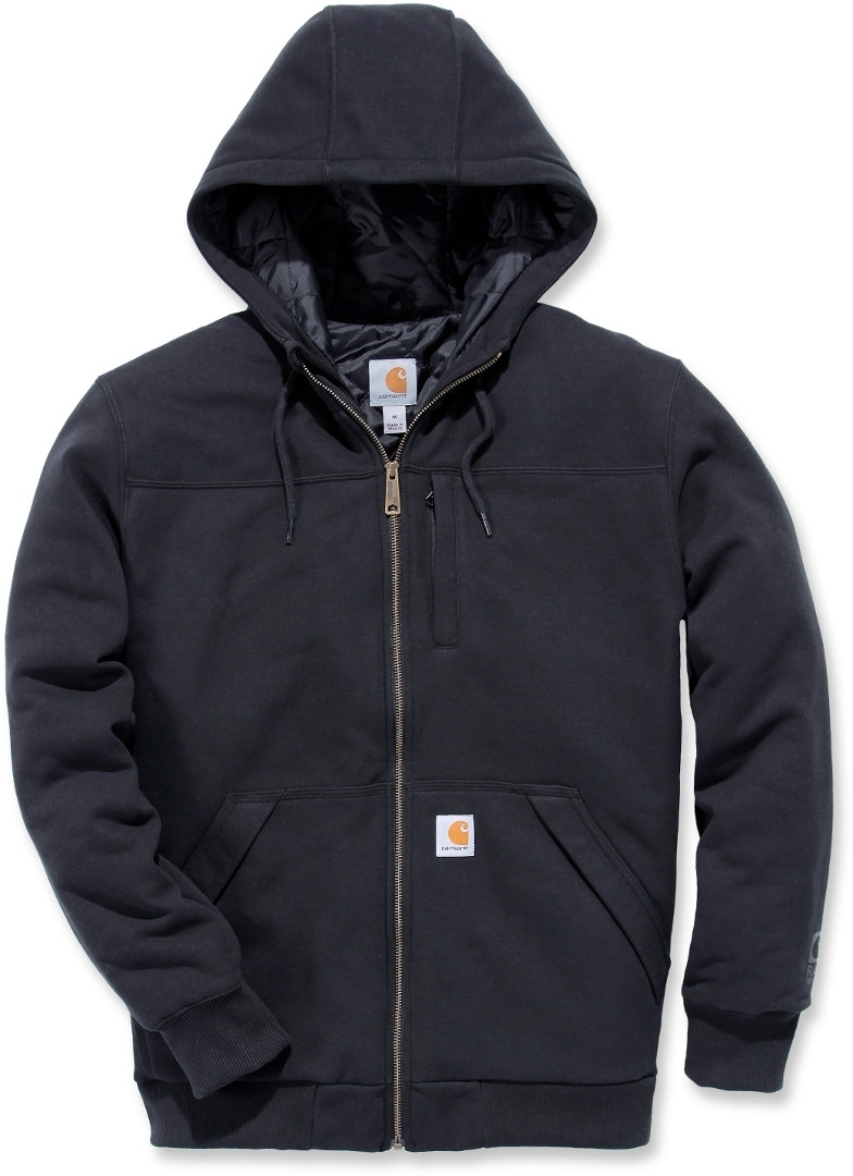 Carhartt Rockland Quilt-Lined Full-Zip Hooded Sweatshirt Schwarz S