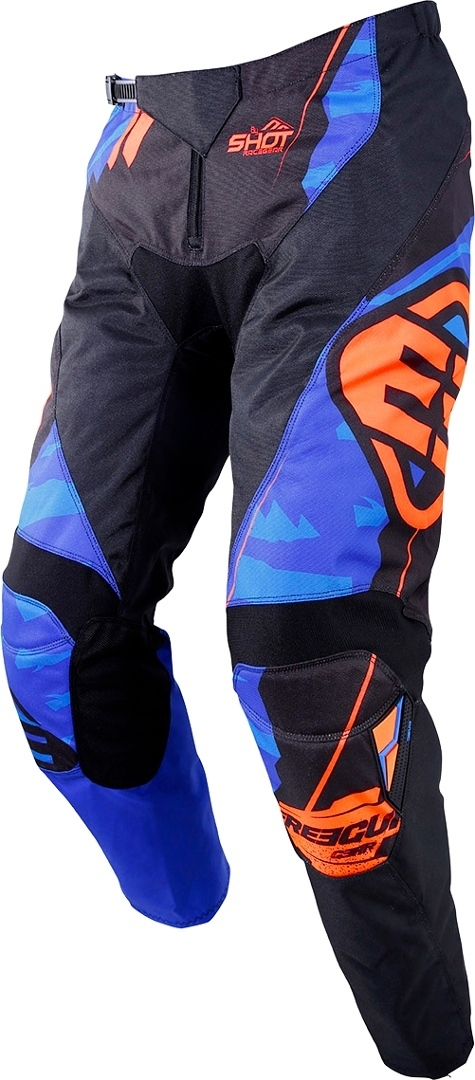 Freegun Devo Hero Kinder Motocross Hose, blau-orange, Größe XS, blau-orange, Größe XS