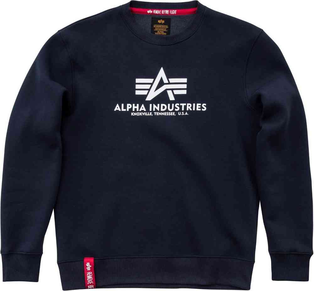 Alpha Industries Basic Print Sweatshirt grau 178302 Herren Neu