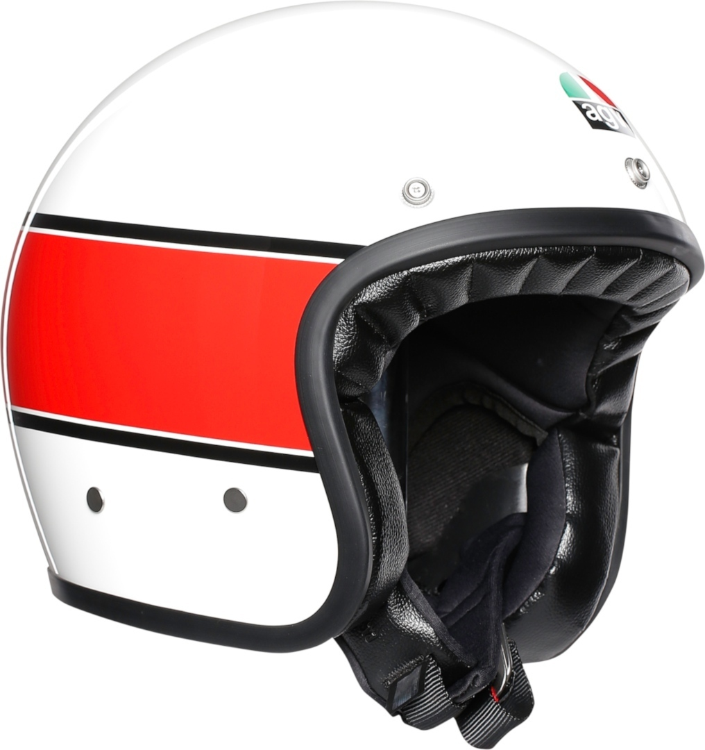 AGV X70 Mono 73 Jethelm Weiss Rot XS