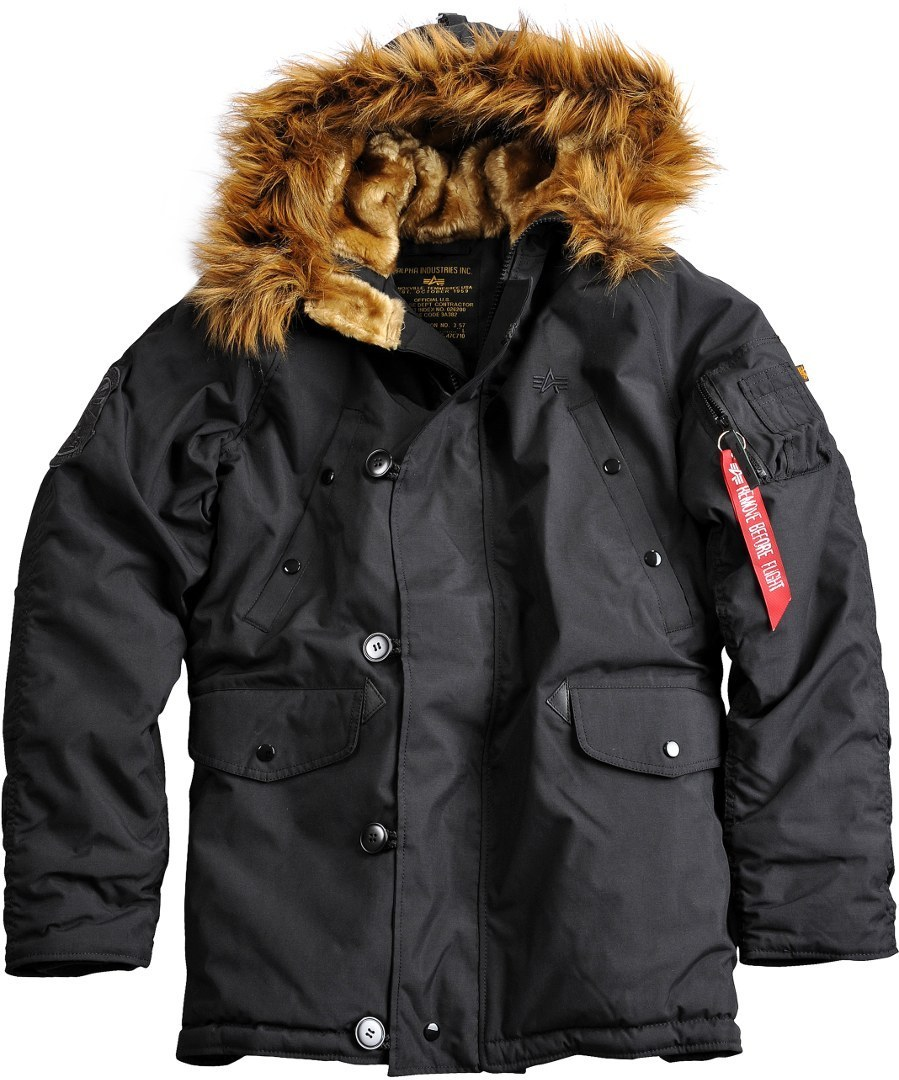 Alpha Industries Explorer Jacke Schwarz S