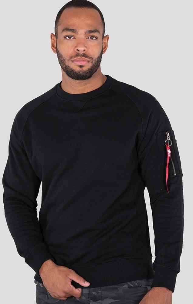17373d02903 Alpha Industries Solid Crew Neck Sweatshirt - buy cheap ▷ FC-Moto