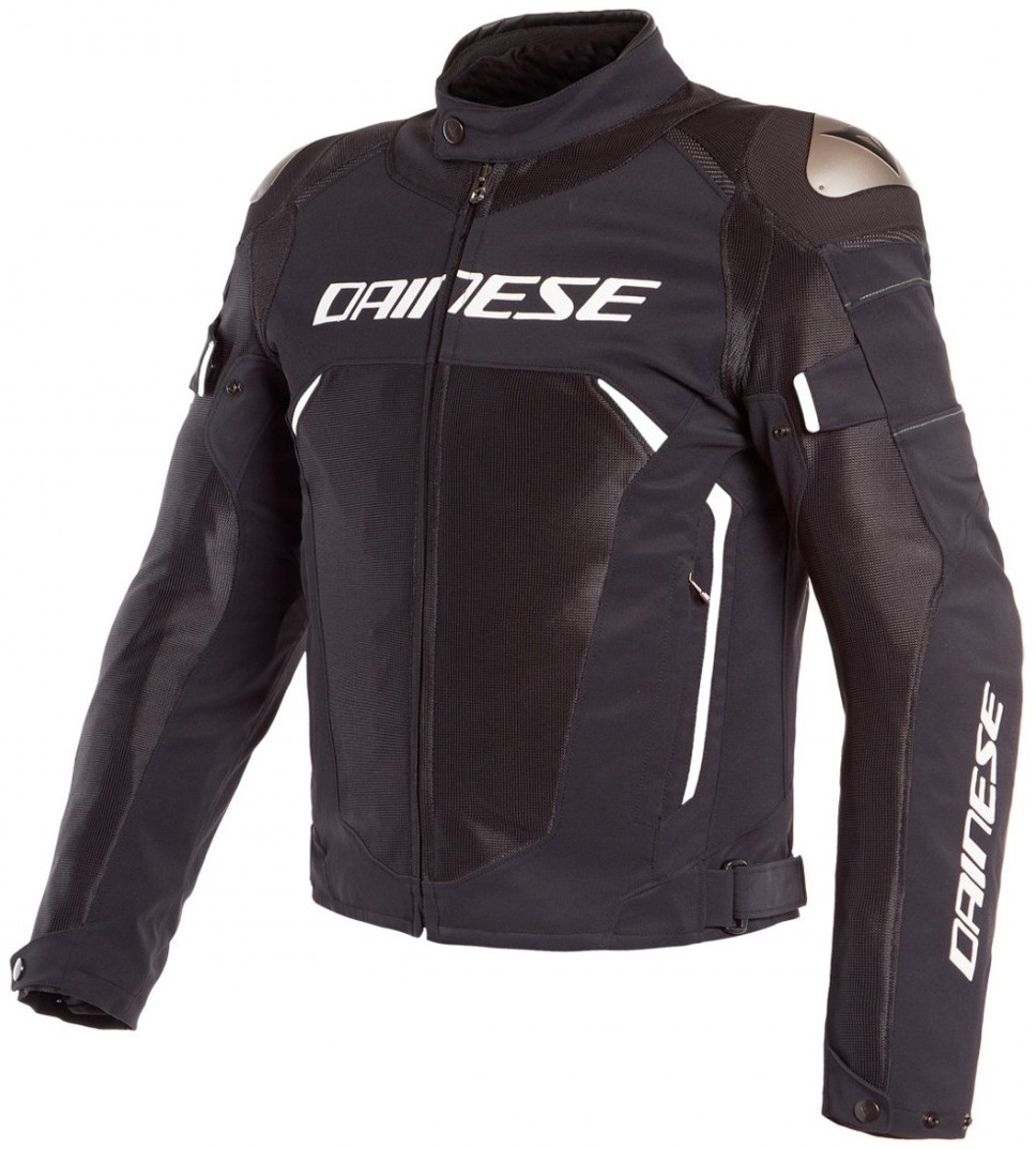 Dainese Dinamica Air D-Dry Motorrad Textiljacke, schwarz-weiss, Größe 58, schwarz-weiss, Größe 58