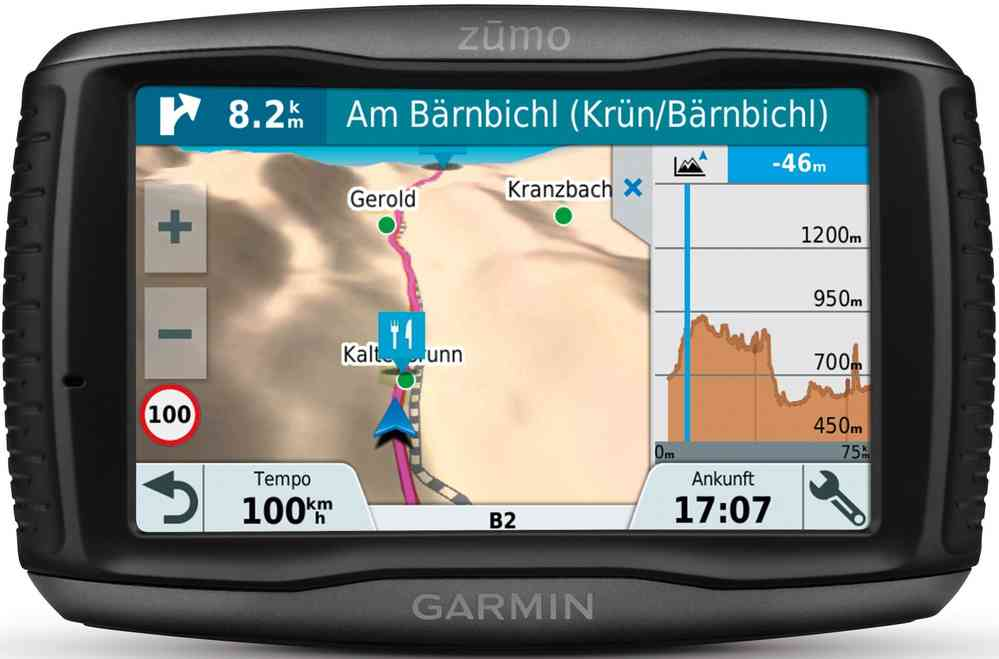 Garmin ZUMO 595LM 5 Inch Motorbike Satellite Navigation with UK Ireland and Full Europe Maps Black Bluetooth and Car Mount Included Free Lifetime Map Updates