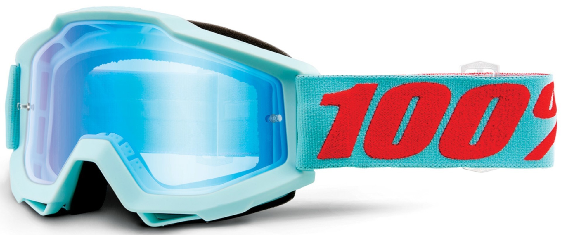 Bekleidung 100% Accuri Extra Maldives Motocross Brille, blau-orange, blau-orange
