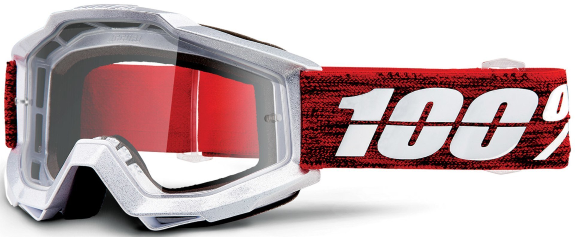100% Accuri Graham Motocross Brille, weiss-rot, weiss-rot RC Modellbau