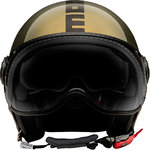 MOMO FGTR Evo Winter Limited Edition Metal Glossy Capacete Jet