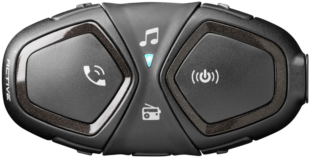 Interphone Active Bluetooth Kommunikationssystem Einzelset, schwarz, schwarz