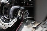 SW-Motech Slider set for rear axle - Black. Suzuki GSX-S750 (17-). 리어 액슬 블랙용 슬라이더 세트-스즈키 GSX-S750 (17-)