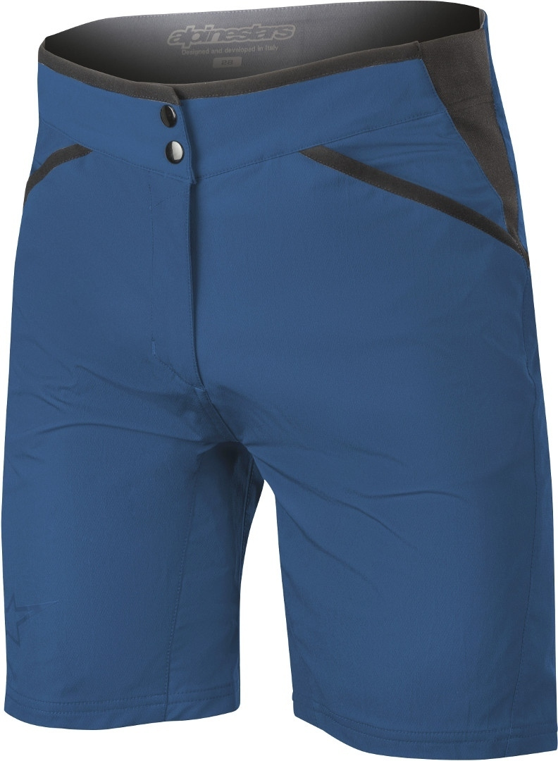 Alpinestars Stella Alps 6.0 Ladies Bicycle Shorts, blue, Size 32 for Women, blue, Size 32 for Women