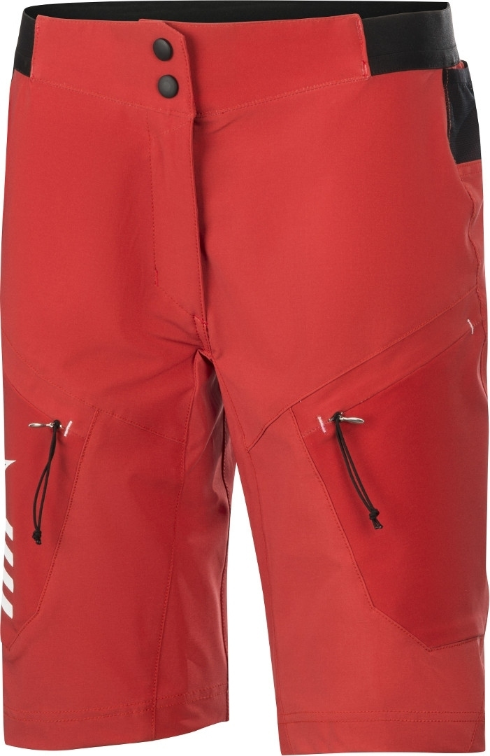 Alpinestars Stella Hyperlite Ladies Bicycle Shorts, red, Size 28 for Women, red, Size 28 for Women