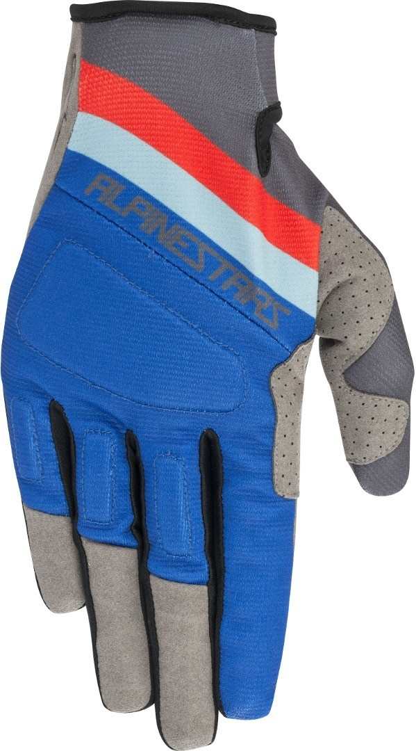 Alpinestars Aspen Pro Bicycle Gloves, red-blue, Size M, red-blue, Size M