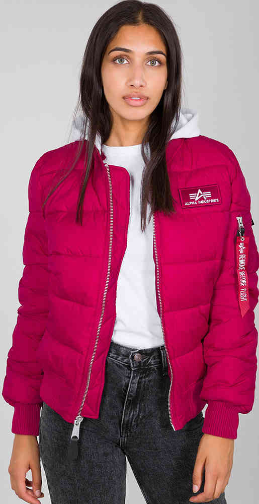 Alpha Industries Zip Hood Puffer Fd Ladies Jacket Buy Cheap Fc Moto