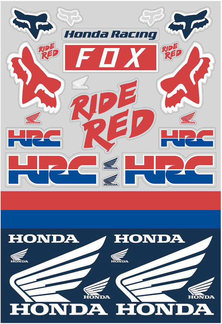 FOX Honda Track Pack Sticker 23619-574-OS