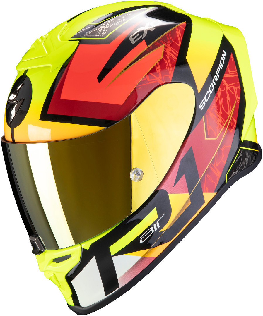 Scorpion EXO R1 Air Infini Helmet, red-yellow, Size XS, red-yellow, Size XS