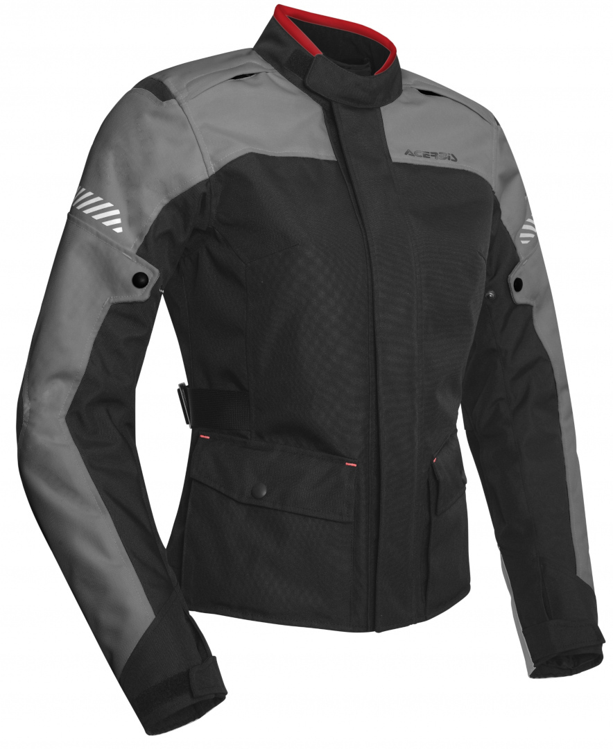 Acerbis Discovery Forest Ladies Motorcycle Textile Jacket, black-grey, Size M for Women, black-grey, Size M for Women
