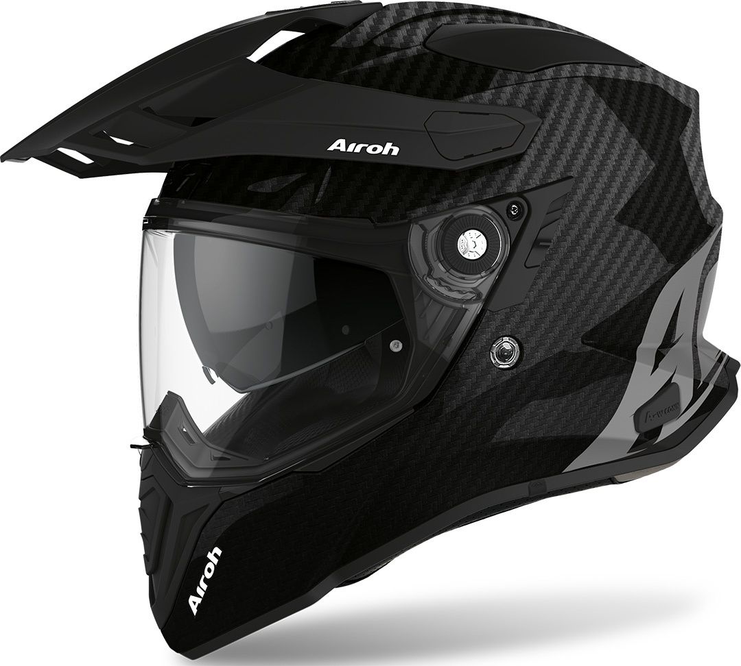 Airoh Airoh Commander Carbon Motocross Helm, schwarz-carbon, Größe L, schwarz-carbon, Größe L
