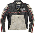 Black-Cafe London Dhaka Chaqueta de cuero de motocicleta