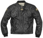 Black-Cafe London Dallas Chaqueta de cuero de motocicleta