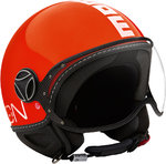 MOMO FGTR Classic Red/White Casco Jet