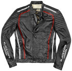 Black-Cafe London Seoul Chaqueta de cuero de motocicleta