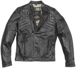 Black-Cafe London Philadelphia Chaqueta de cuero de motocicleta