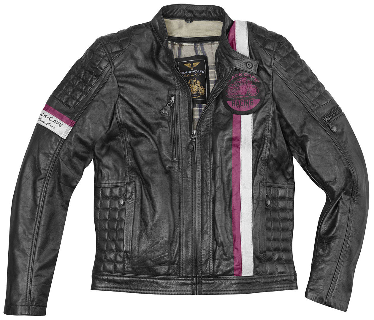 Black-Cafe London Barcelona Motorrad Lederjacke LJ-191619-BCL-137-52