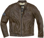Black Cafe London Houston Chaqueta de cuero de motocicleta