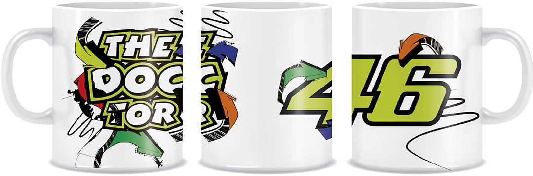 VR46 Street Art Cup, white, white, Size One Size