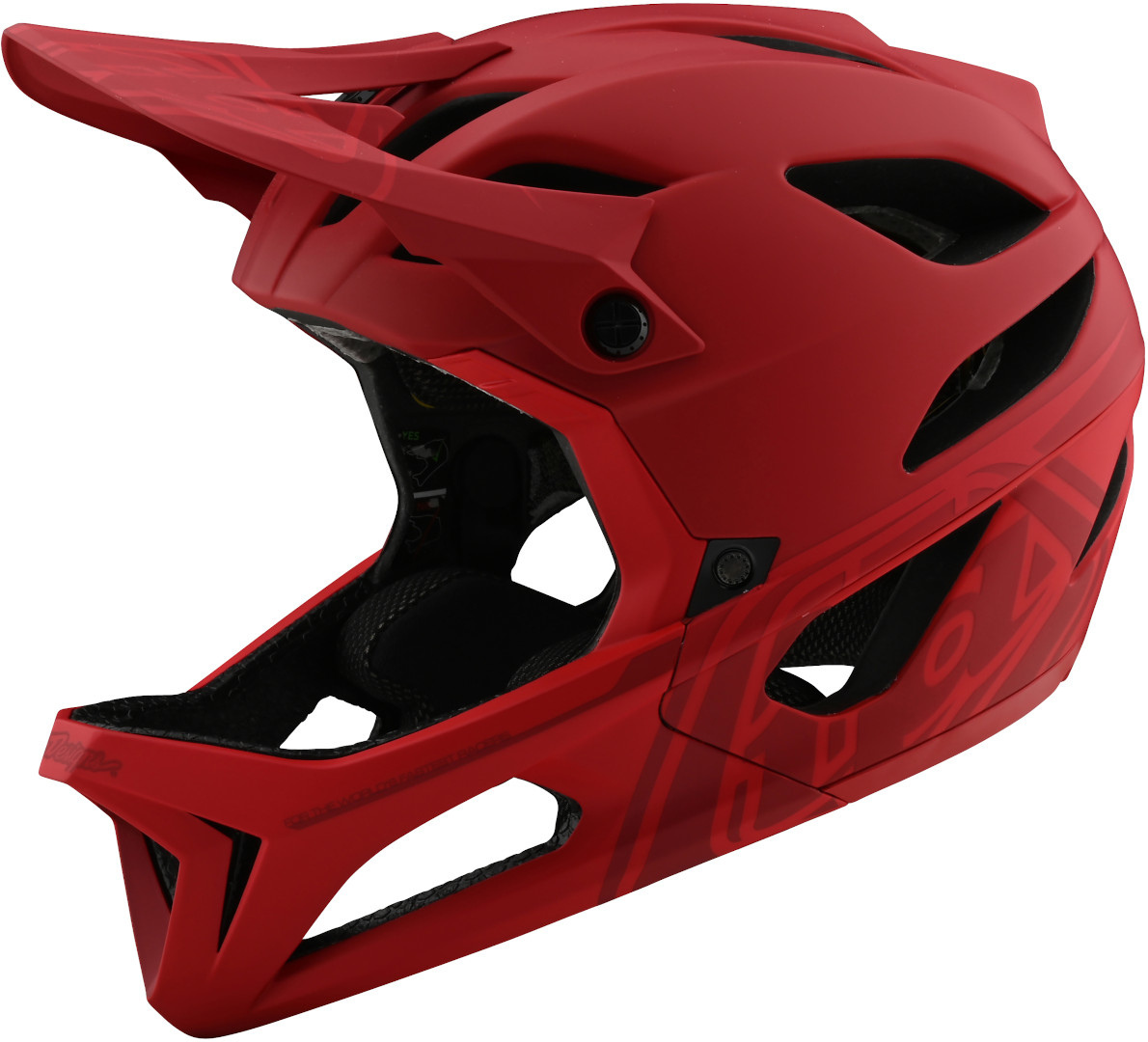 Troy Lee Designs Stage Stealth MIPS Helmet, red, Size XL 2XL, red, Size XL 2XL