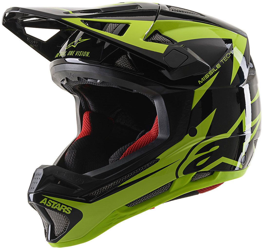 Alpinestars Missile Tech Airlift Downhill Helm, schwarz-grün, Größe M, schwarz-grün, Größe M