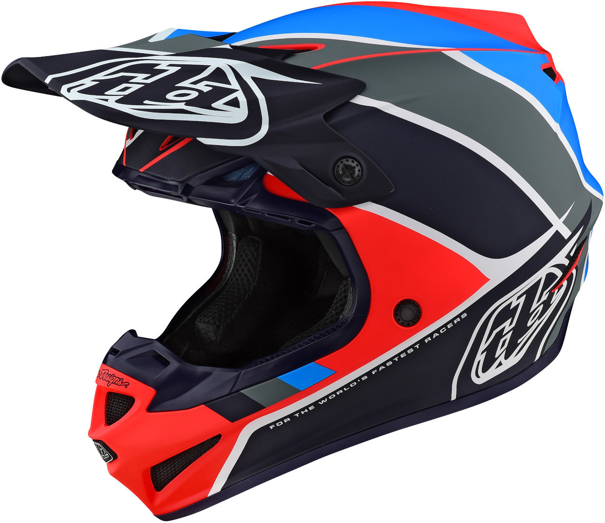Troy Lee Designs SE4 PA Beta Motocross Helm, blau-orange, Größe S, blau-orange, Größe S