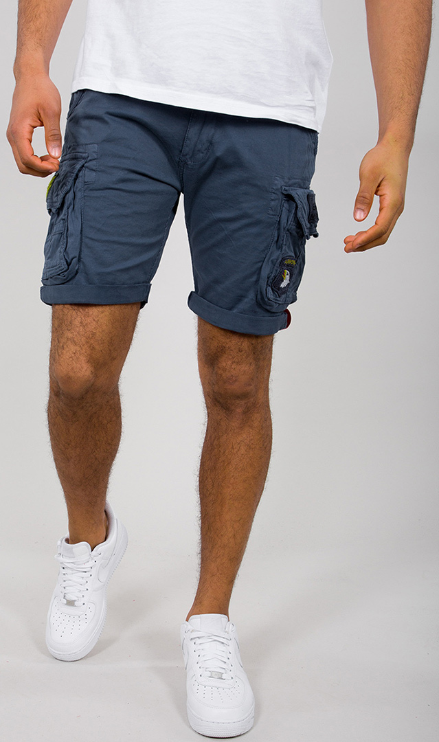 Alpha Industries Crew Patch Shorts, blau, Größe 36, blau, Größe 36