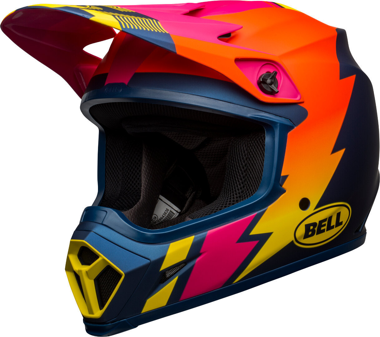 Bell MX-9 Strike MIPS Motocross Helm, blau-orange, Größe S, blau-orange, Größe S