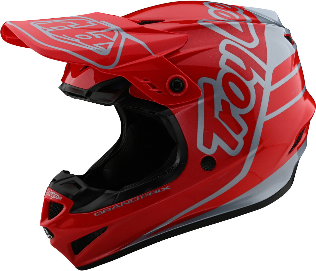 Troy Lee Designs GP Silhouette Motocross Helmet, red-silver, Size S, red-silver, Size S