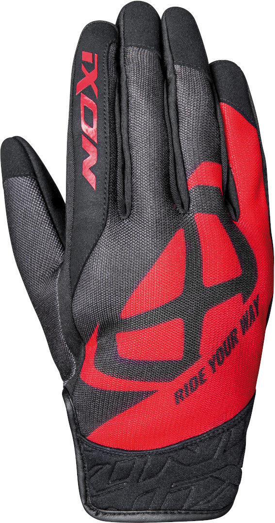 Ixon RS Slicker Motorcycle Gloves, black-red, Size M, black-red, Size M