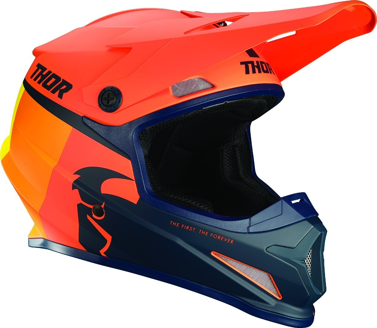 Thor Sector Racer Motocross Helm, blau-orange, Größe S, blau-orange, Größe S