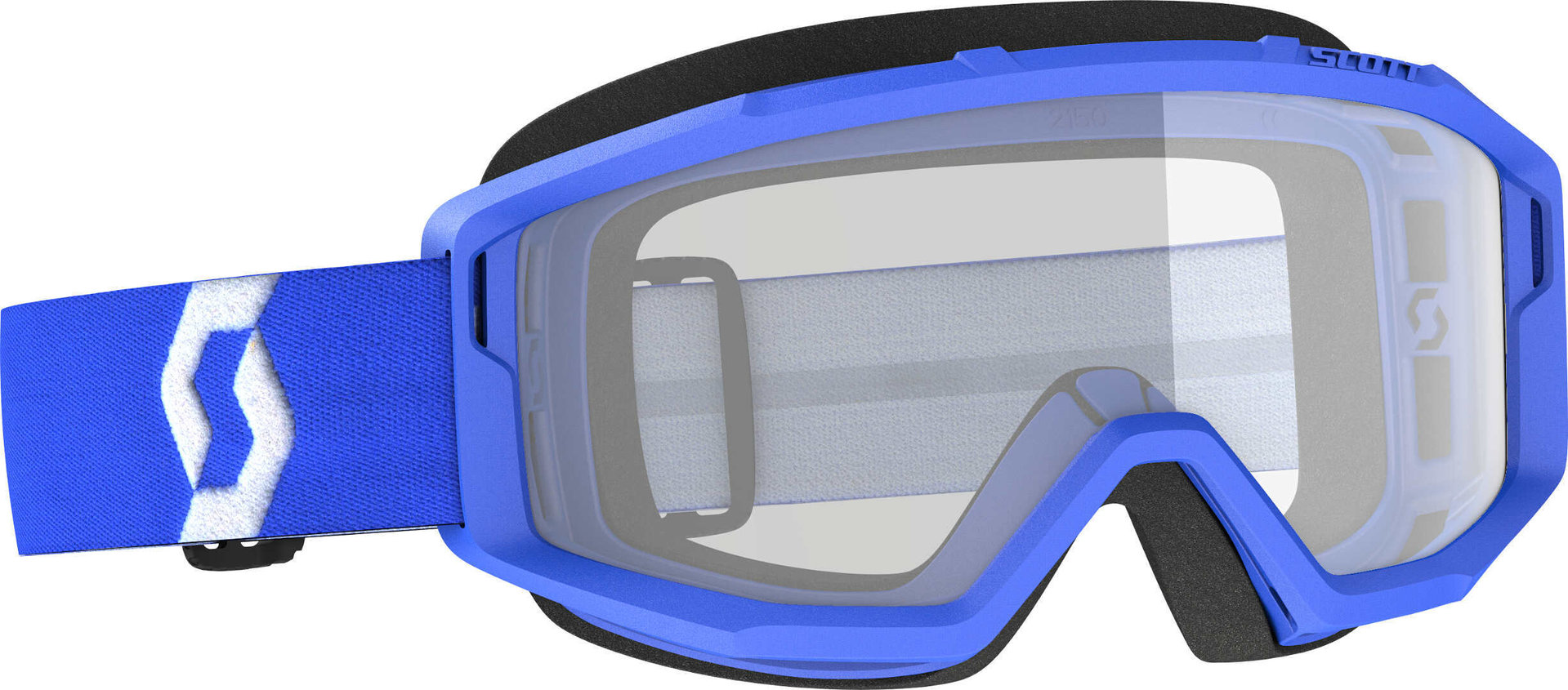 Scott Primal Clear blaue Motocross Brille, blau