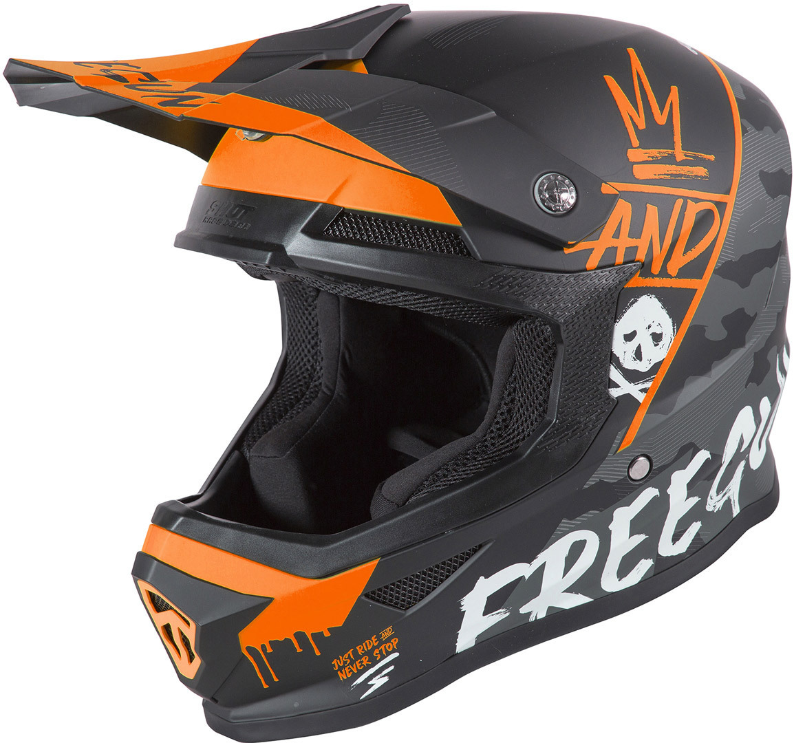 Freegun XP4 Camo Motocross Helm, orange, Größe L, orange, Größe L