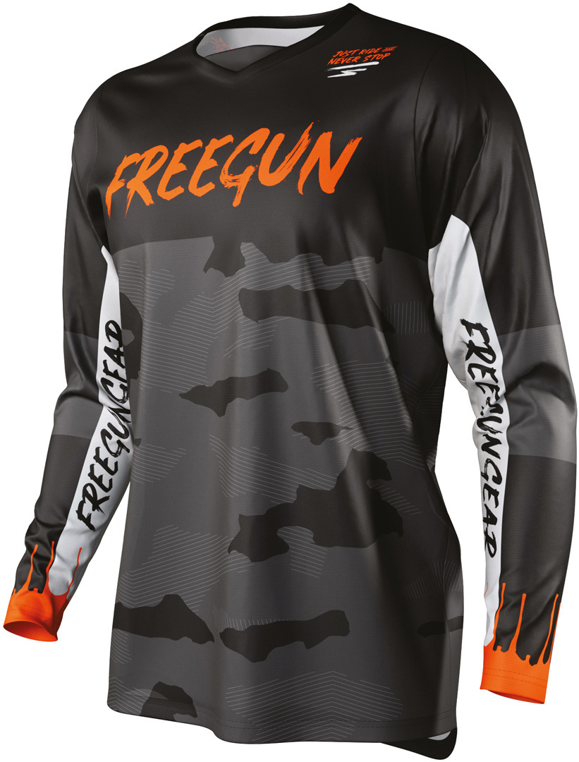 Freegun Devo Camo Motocross Jersey, orange, Größe S, orange, Größe S