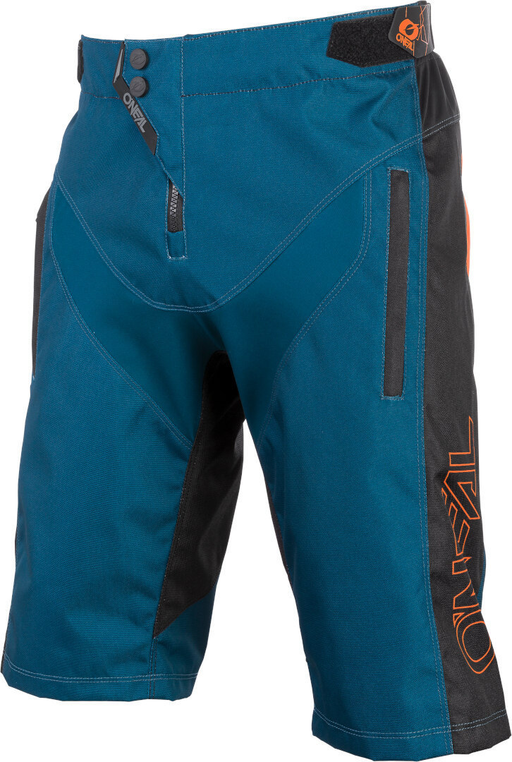 Oneal Element Hybrid FR Bicycle Shorts, green-blue-orange, Size 32, green-blue-orange, Size 32