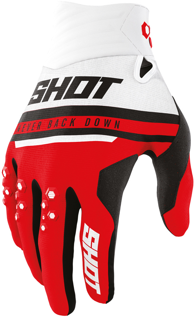 Shot Contact Shining Motocross Gloves, red, Size L, red, Size L