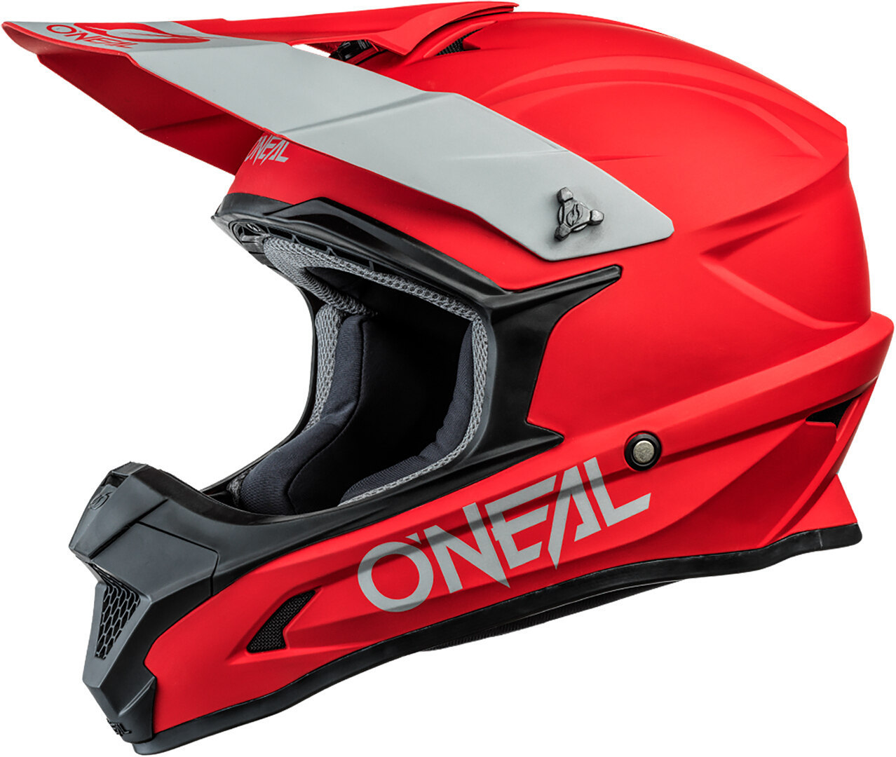 Oneal 1Series Solid Motocross Helm, rot, Größe XS, rot, Größe XS