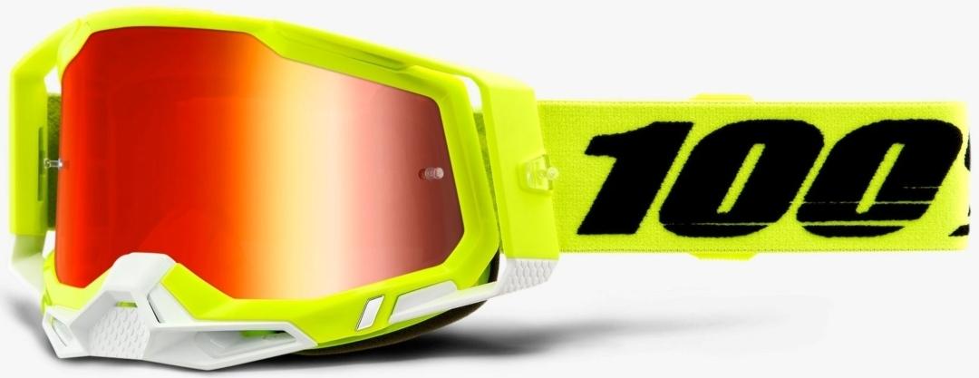 100% Racecraft II Motocross Brille, schwarz-gelb, schwarz-gelb RC Modellbau