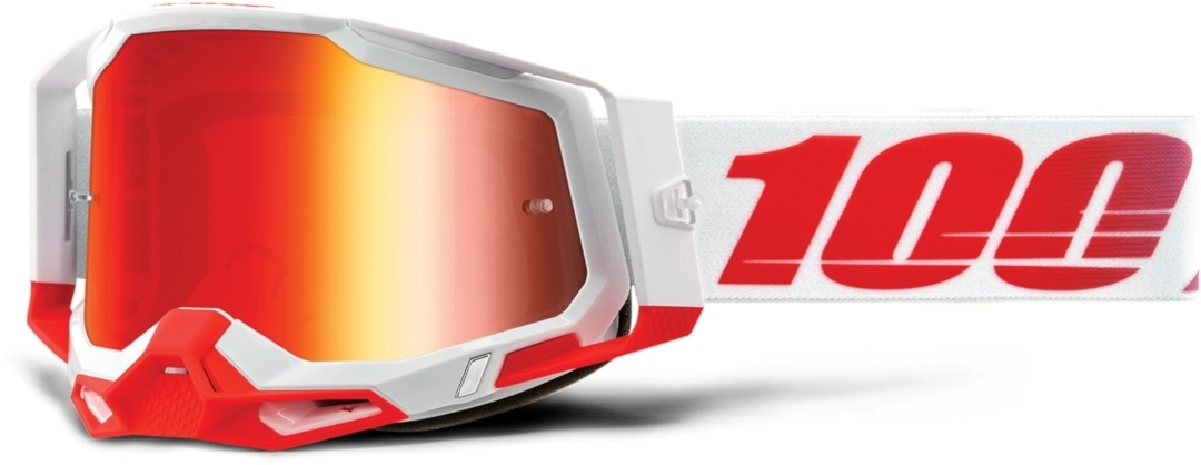 100% Racecraft II St. Kith Motocross Brille, weiss-rot, weiss-rot RC Modellbau