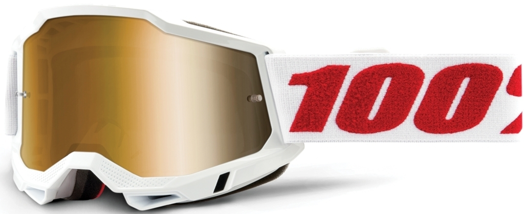 100% Accuri II Extra Denver Motocross Brille, weiss-rot, weiss-rot RC Modellbau