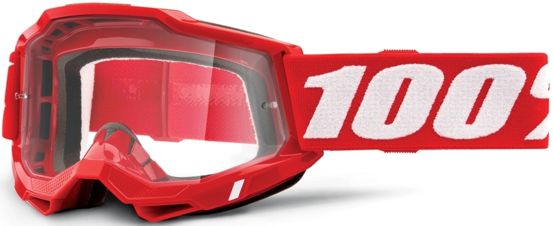100% Accuri II OTG Motocross Brille, weiss-rot, weiss-rot RC Modellbau