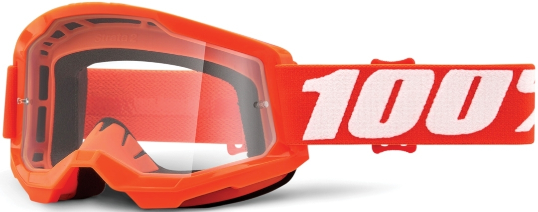 100% Strata II Motocross Brille, weiss-orange, weiss-orange