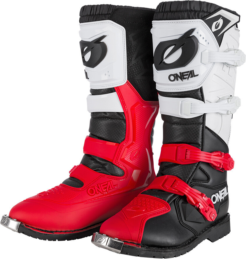 Oneal Rider Pro Motocross Boots, black-white-red, Size 40, black-white-red, Size 40