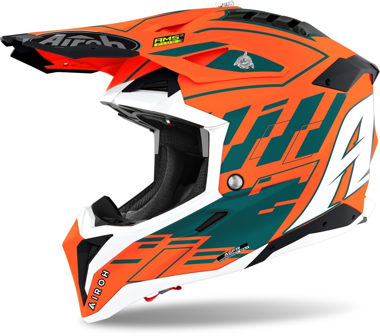 Airoh Aviator 3 Rampage Carbon Motocross Helm, orange, Größe S, orange, Größe S